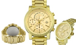 NY London Men's Essen Watch - Gold Band/Gold Dial