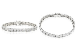1/10 CTTW Tennis Bracelet in 18K White Gold