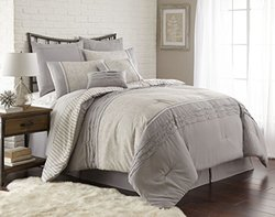Amraupur Overseas Camila Pleated 8-piece Comforter Set-Queen 1000617