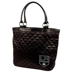 NHL Los Angeles Kings Sport Noir Quilted Tote Purse - Black