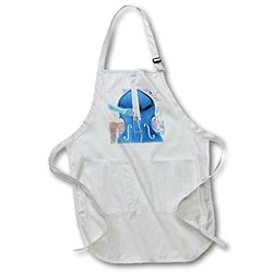 """Upright Bass Full Length Apron - Black - Size: 22 by 30"""""""