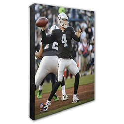 "NFL Oakland Raiders Derek Carr Beautiful Gallery Canvas - Size: 16"" x 20"""