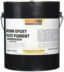 System Three 3202A24 Brown Paste Pigment Coating, 1 gal Can
