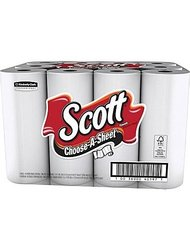 Scott Choose-A-Sheet Paper Towels - 1 Ply - White - Paper - 12Rolls