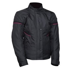 Bilt Women's Lottie Waterproof Motorcycle Jacket - Black/Pink - Size: 2X