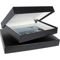 "Archival Methods 14.25""x18.25""x2"" Onyx Portfolio Box - Black/White Lining"