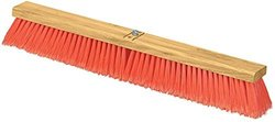 "Carlisle 3610223624 Flo-Pac Juno Style Hardwood Block Sweep, Polypropylene Bristles, 36"" Length, Orange (Case of 6)"