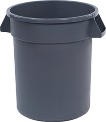 Bronco 20 Gal. Gray Round Trash Can (Pack) 6