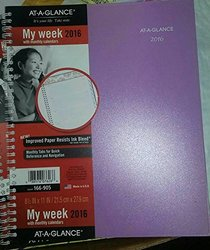 AT-A-GLANCE Professional Weekly / Monthly Planner 2016, 166-905