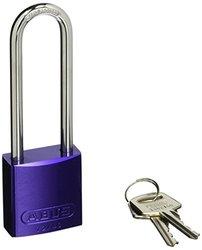 """Brady 3"""" Shackle Aluminum Padlock - Purple"""
