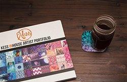 "Kess InHouse Ebi Emporium ""Flower Power in Aqua"" Blue Purple Coasters, 4 by 4-Inch, Teal, Set of 4"