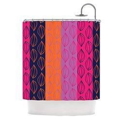 "Kess InHouse Anneline Sophia ""Tropical Seeds"" Pink Orange Shower Curtain, 69 by 70-Inch"