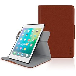 iPad Mini 4 Case, roocase Orb Folio 360 Rotating PU Leather Case Cover for Apple iPad Mini 4 (2015) [Supports Sleep/Wake Feature] Brown