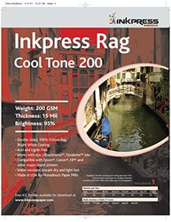 INKPRESS MEDIA 200 GSM, 15 Mil, 95 Percent Bright, Double Sided Photo Paper (#PRCT200172520)