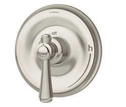 Symmons S-5400-STN-TRM Degas Shower Trim with Lever Handle and Integral Volume Control, Satin