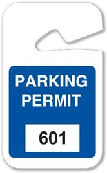 "Brady  96267 2 3/4"" Width x 4 3/4""Height, Vinyl, Blue Rearview Mirror Hanging Tags (100 Tags)"