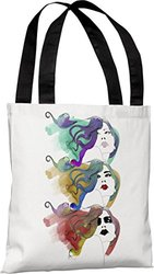 "Bentin Home Decor Mermaid Hair Tote Bag by Judit Garcia Talvera, 16""x 16"", White/Multi"