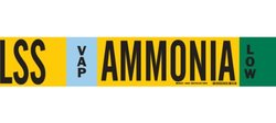 "Brady 59932 Ammonia (IIAR) Pipe Markers, B-681/B-883,Black, White, Sky Blue, Green On Yellow Polyester Over-Laminate On Fiberglass Plastic Carrier, Legend ""Ammonia"""