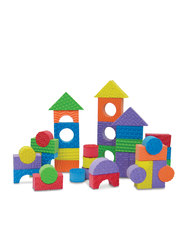 Edushape Kid's Textured Blocks 30Pc Set - Multi Color