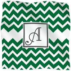 Kess InHouse KESS Original Fleece Throw Blanket, 90 by 90-Inch, Monogrammed Letter A, Chevron Green