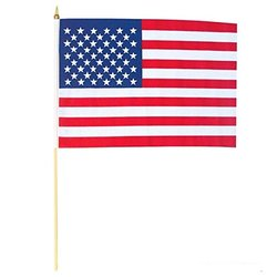 Oasis Supply American Flag (12 Piece Per Order), 12 by 18""