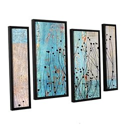 "ArtWall Cora Niele's Dark Silhouette 4 Pc Canvas Staggered Set -  24""X36"""