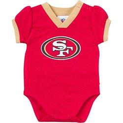Gerber Girl's NFL San Francisco V Neck Bodysuit - Red/Gold - Size: 18 M