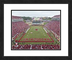 "NCAA Arkansas Razorbacks Stadium, Beautifully Framed and Double Matted, 18"" x 22"" Sports Photograph"
