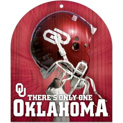 NCAA Oklahoma Sooners Wood Sign, 10 x 11-Inch