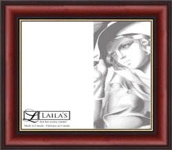 Laila's 5 by 7-Inch 6140 Burgundy Photo Frame