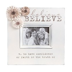 K&K Interiors Believe Photo Frame with Flowers