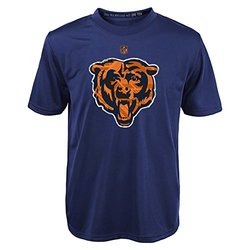 NFL Chicago Bears Boys  Short Sleeve Dri-Tek Tee - Dark Navy - Size: Med