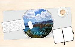 "KESS InHouse Deepti Munshaw ""Enjoy Explore Experience"" Island Office Desk Mat, Blotter, Pad, Mousepad, 13 x 22-Inches"