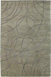 2-1/2' X 8' Avant-Garde Hand-Knotted New Zealand Wool Area Rug - Gunmetal