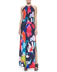 Trina Turk Women's Jersey Halter Maxi Dress - Multicolor - Size: 4