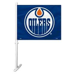 Edmonton Oilers Car Flag w/ Wall Brackett  (P)