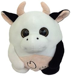 "GabiToy 10"" Size Round Friend Plush Toy - Cow"