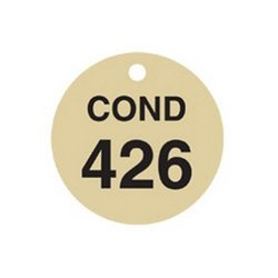 Brady 23664, Stamped Brass Valve Tags (Pack of 10 pcs)