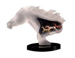 Starlite Studio Untamed Spirit 11-Inch Horse Sculpture Embedded in Lucite