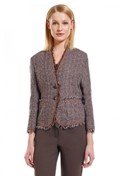 Escada Women's Jacket - Multi Brown - Size: 38