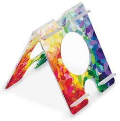 """TrippNT 51272 Four Position, Audio Enhancing, Extreme Rainbow Falling Leaf Pattern Acrylic Universal iPad Air, Samsung Galaxy Note 10.1 and Amazon Kindle Fire HDX 8.9 Stand, 7"""" Width x 8"""" Height x 8"""" Depth"""