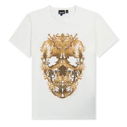 Just Cavalli Men's Skull Printed T-Shirt - Off White - Size: Medium