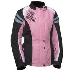 Bilt Connie Women's Waterproof Motorcycle Jacket - Pink/Black - Size: L