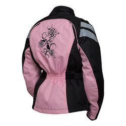 Bilt Connie Women's Waterproof Motorcycle Jacket - Pink/Black - Size: XS