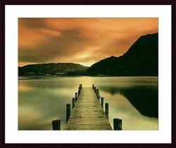 "Printfinders 26-1/2"" x 35"" Ullswater by Mel Allen Wood Framed Art Print"
