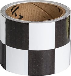 "Brady 3"" Width Warning Stripe & Check Tape - Black / White (76318)"