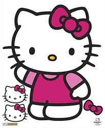 Hello Kitty Waving Hello Kitty Character & Accessories PVC Decal & Novelty, 13 by 15""