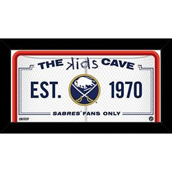 """Steiner Sports NBA Kids 10x20"""" Buffalo Sabres Cave Sign"""