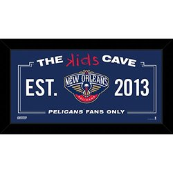 "Steiner Sports New Orleans Pelicans 10"" x 20"" Kids Cave Sign Nor Team"