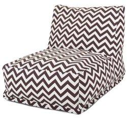 Majestic Home Chocolate Chevron Bean Bag Chair Lounger brown